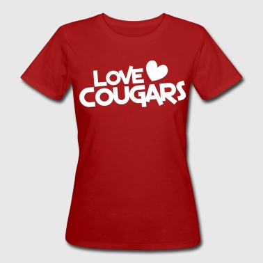 love cougars with heart funny cougar hunter - Women's Organic T-shirt