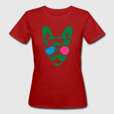 Cool Bulldog - 3D - Women's Organic T-shirt