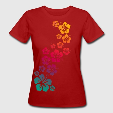 BALI hibiscus blooms coloured - Frauen Bio-T-Shirt