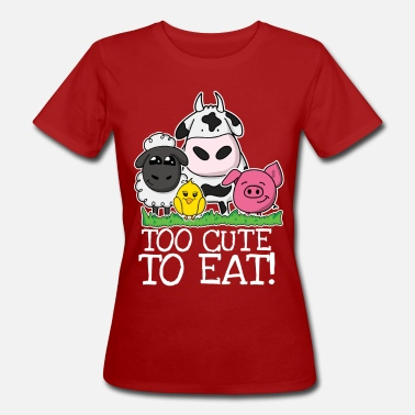 Tierschutz Too cute to eat - Frauen Bio T-Shirt