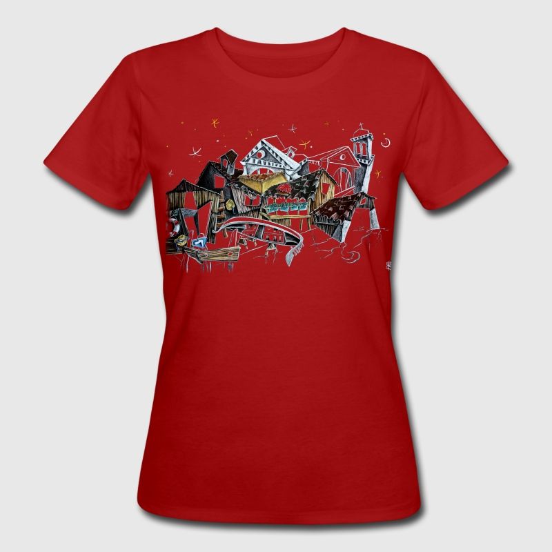 Venice T-shirts - Gondola Night Dream - Fashion Italy - Women's Organic T-shirt