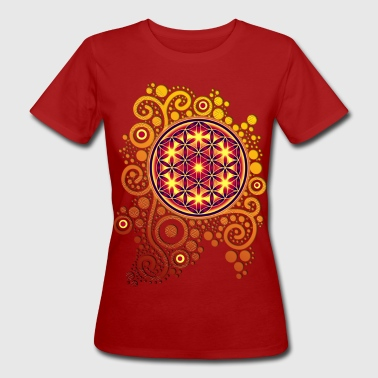 Blume des Lebens / flower of life POWER - Frauen Bio-T-Shirt