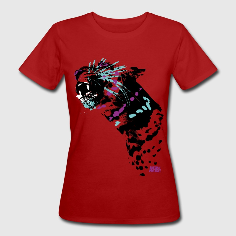 Animal Planet Colourful Leopard Big Cats - Ekologisk T-shirt dam