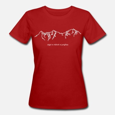 Eiger Eiger Mönch Jungfrau - in cool swissness design - Women's Organic T-Shirt