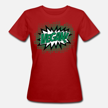 Day Vegan, Comic Book Style, Green, Explosion, 3c - T-shirt bio Femme
