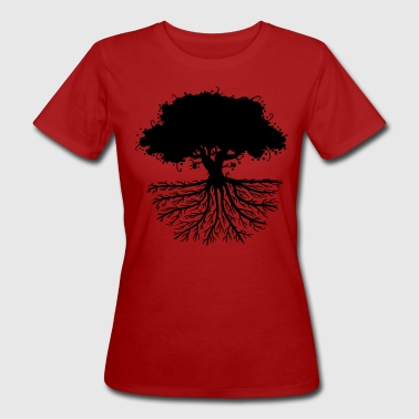 tree roots black - Women's Organic T-shirt
