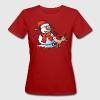 Dog Pissing on a Snowman - Women's Organic T-shirt
