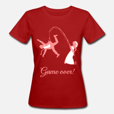 Bride And Groom Game Over Game Over (Bride Fishing Husband) - Women's Organic T-Shirt