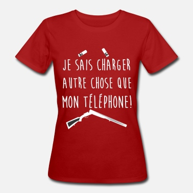 Chasseresse Fille qui chasse - T-shirt bio Femme