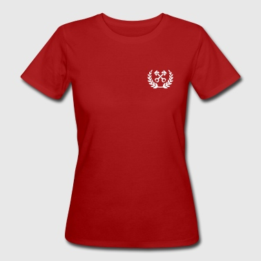 Tuning Race Cars - laurel wreath / piston - Frauen Bio-T-Shirt