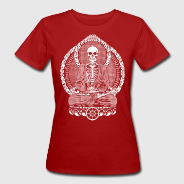 Skeletton Buddha White - Frauen Bio-T-Shirt