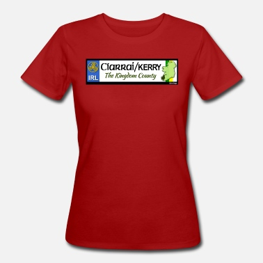 County Kerry CO. KERRY, IRELAND: licence plate tag style decal - Women's Organic T-Shirt