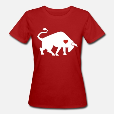 Torero Bull ox cow bullfighting torero gift heart - Women's Organic T-Shirt