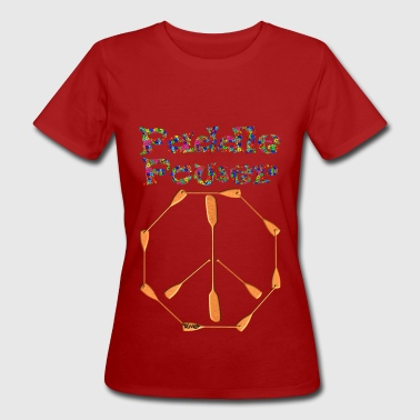 Paddle Power Peace Sign 004 - Women's Organic T-Shirt