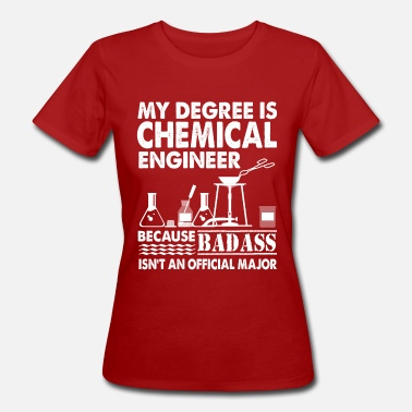 Christmassy My degree is a chemical engineer - Women's Organic T-Shirt