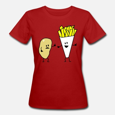 French Fries potato french fries - Vrouwen Bio-T-shirt