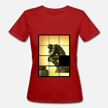 Decals Le penseur The Thinker, decals puzzle game - Women's Organic T-Shirt