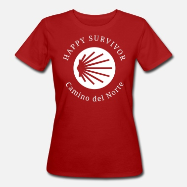 Pilgermuschel Happy Survivor Camino del Norte 001 glau - Frauen Bio T-Shirt