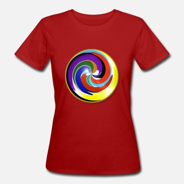 Multi Coloured Multicolored and shiny marble - Women's Organic T-Shirt