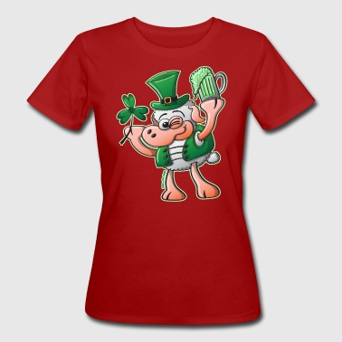 Milk Music Saint Paddy's Day Sheep Drinking Beer - Women's Organic T-Shirt