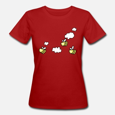 Manchester Bee in the Clouds Bags & Backpacks - Women's Organic T-Shirt