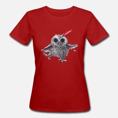 Chief Red Happy Owl Sudadera con capucha premium mujer