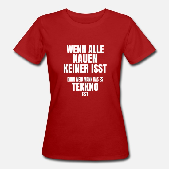 Right Wing T-Shirts - When all chew and no one eats - Women's Organic T-Shirt dark red