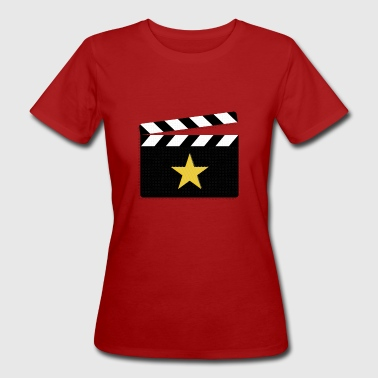 Clapperboard Movie Star Clapperboard Square - Women's Organic T-Shirt