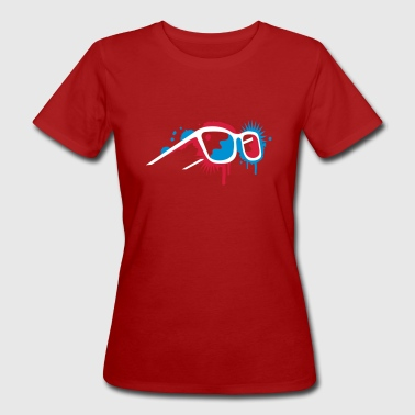 3D glasses in graffiti style - Women's Organic T-Shirt