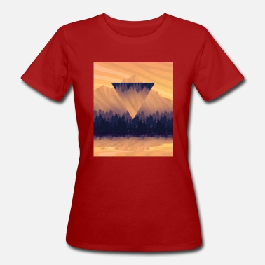 Inverted Triangle Landscape with hypster triangle - Women's Organic T-Shirt