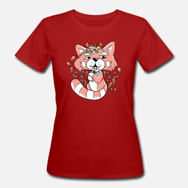 Flower Red Panda - Women's Organic T-Shirt