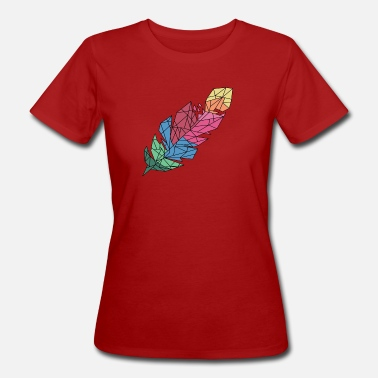 Feathered Animal feather - Women's Organic T-Shirt