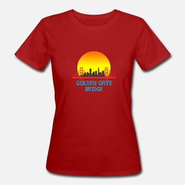 Golden Gate Bridge - San Francisco USA - Reisen - Frauen Bio T-Shirt