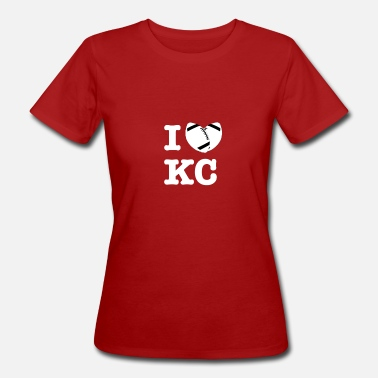 Kansas City Chiefs Ich liebe Kansas City American Football Fan Motiv - Frauen Bio-T-Shirt