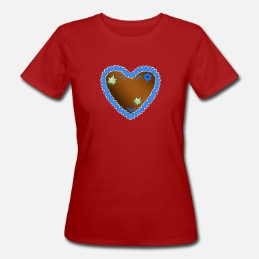 Gingerbread Heart gingerbread heart - Women's Organic T-Shirt