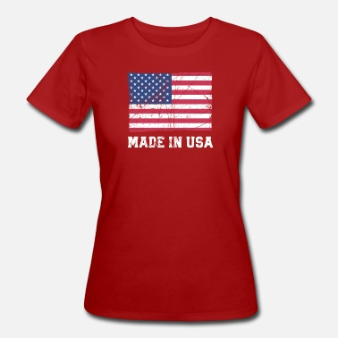 Made In Usa USA Flagge / Made in USA - Women's Organic T-Shirt