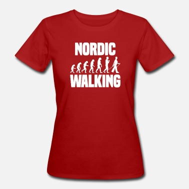 Sports Nordic Walking Sport Evolution Outdoor Gift - Ekologisk T-shirt dam