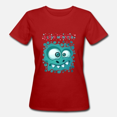 Goggley Eyes Funny monster t-shirt for kids - Women's Organic T-Shirt