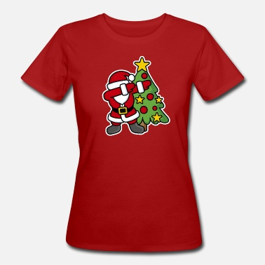 Natale Dabbin' around the Christmas tree - T-shirt ecologica da donna