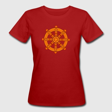 Dharma Wheel of Fortune, Buddhism, Chakra - Women's Organic T-shirt