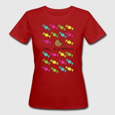 Snoep I love to be different- cookie - Vrouwen Bio-T-shirt