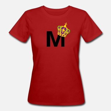 Initials Crown First name letter initial letter crown gift - Women's Organic T-Shirt