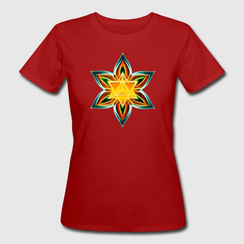 Flower of Life, Merkaba, Spiritual Symbol, Light - Women's Organic T-shirt