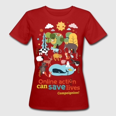 Save Animals - Women's Organic T-Shirt