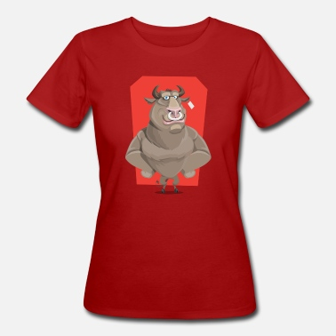 Nose Ring Bull with ring through the nose - Women's Organic T-Shirt