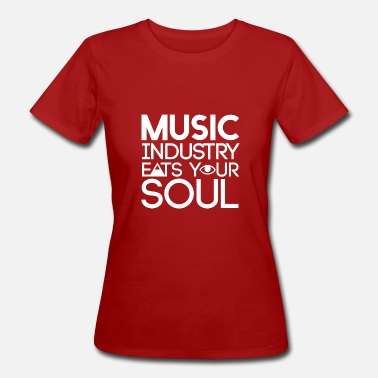 Zeichen Schmutzig Music Industry eats your soul - illuminati - Frauen Bio-T-Shirt