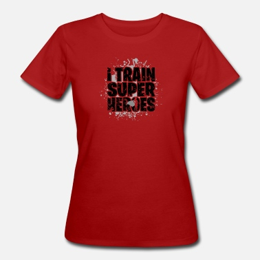 Push Up Personal Training Workout Fitness superheroes - Women's Organic T-Shirt