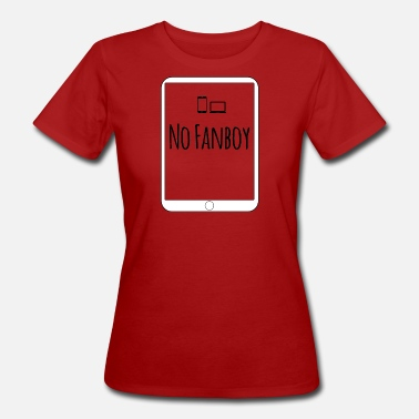 Apple Fanboy Technology fanboy logo - Women's Organic T-Shirt
