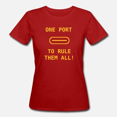 Usb Anschluss one port to rule them all - Frauen Bio-T-Shirt
