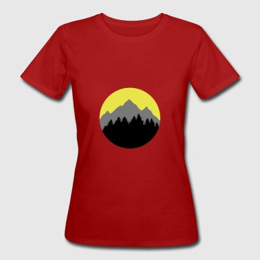Forest, Mountains, Sunrise/Sunset - Camiseta ecológica mujer